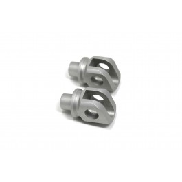 Pilot Footpegs Adapters-Silver