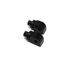 Passenger Footpegs Adapters-Black