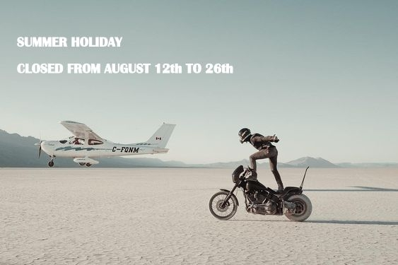 Summer holidays 2019, shipping from August 27th